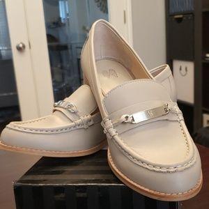 Victoria's Secret beige oxford loafer shoes